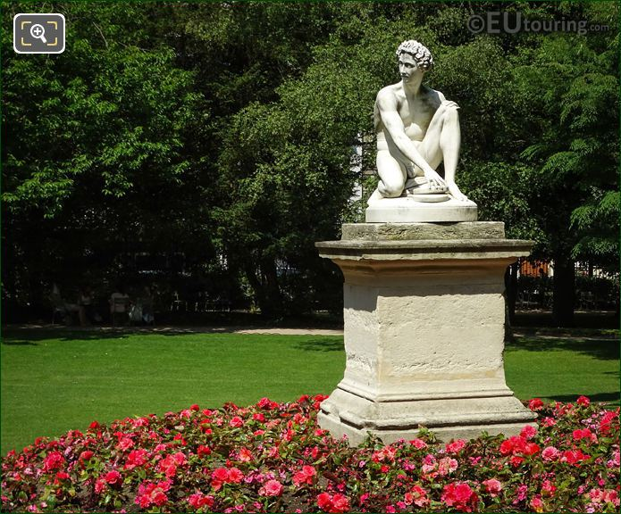 Luxembourg Gardens Marble Statue Archidamas
