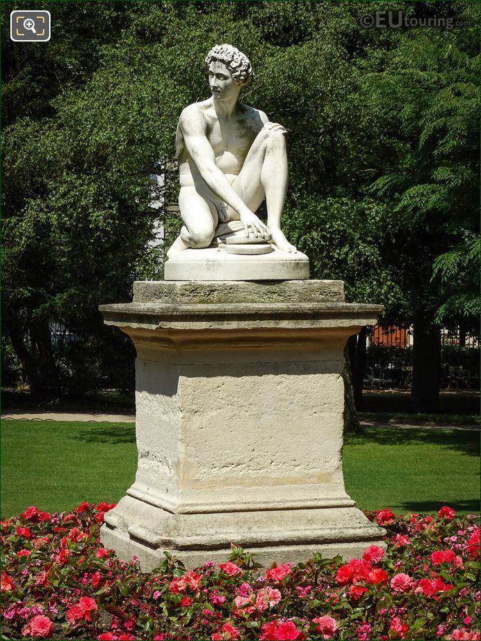 Archidamas Statue On Stone Base