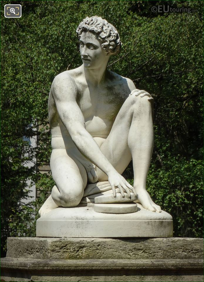 Archidamas Statue By Philippe Joseph Henri Lemaire