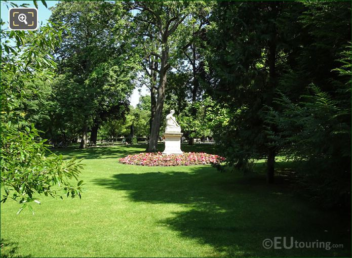 Garden Area Around The Statue Of Archidamas