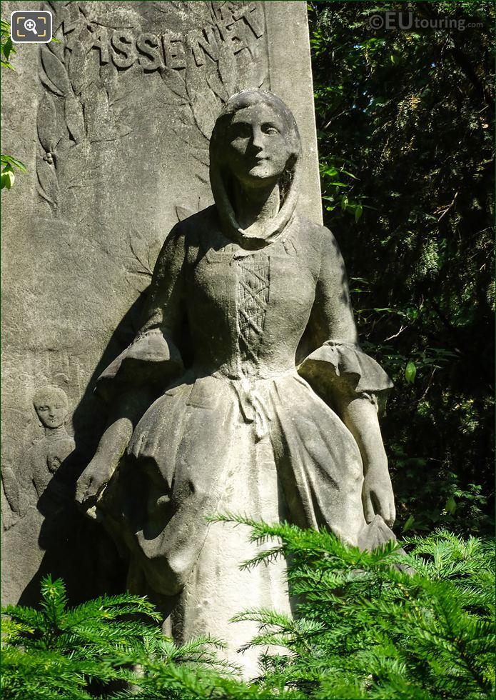Lady Statue On Jules Massenet Monument