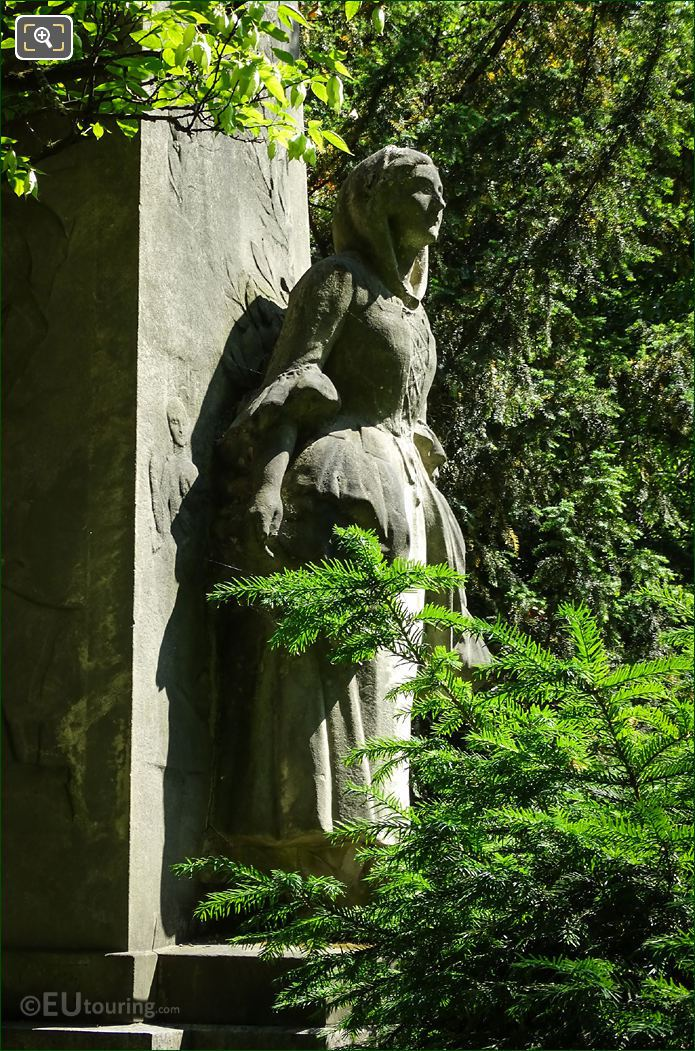 West Side Of Lady Statue On Massenet Monument