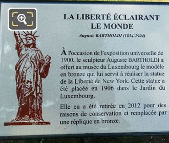 Photos of statue of liberty in luxembourg gardens paris for Jardin tablet uses