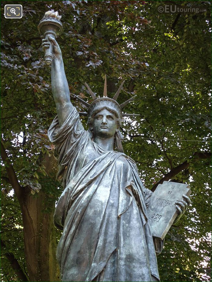 Liberty Flame And Tablet On Statue Of Liberty