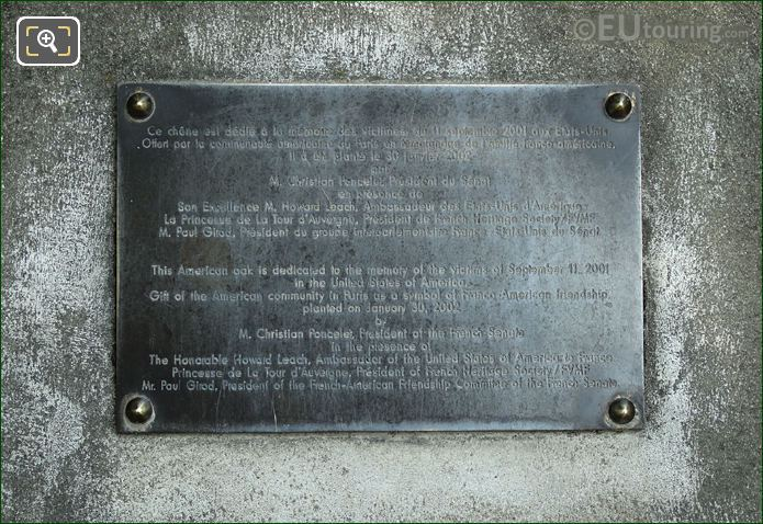 Plaque About The American Oak Tree