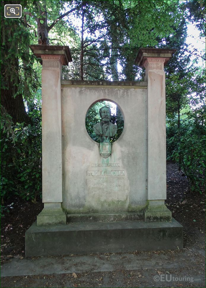 Jose Maria De Heredia Monument In Luxembourg Grdns