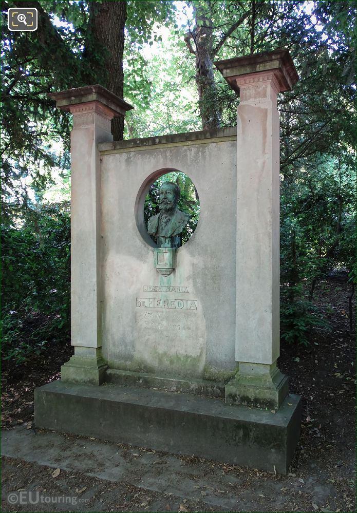 Jardin Du Luxembourg Monument Jose Maria De Heredia