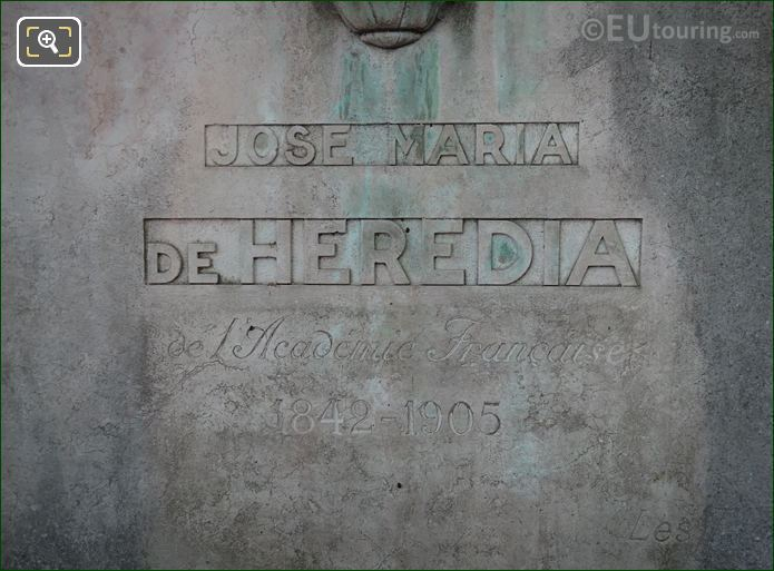 Jose Maria De Heredia Monument Inscription