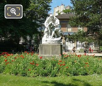 Luxembourg Gardens And Joies De La Famille Statue
