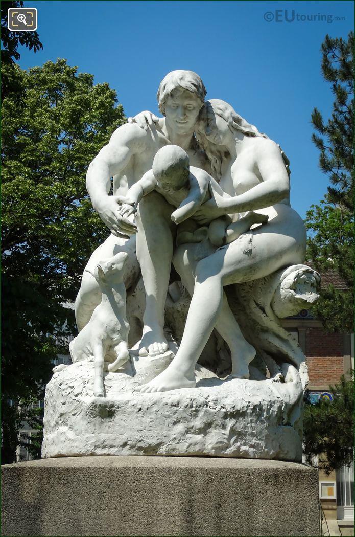Joies De La Famille Statue By Horace Daillion