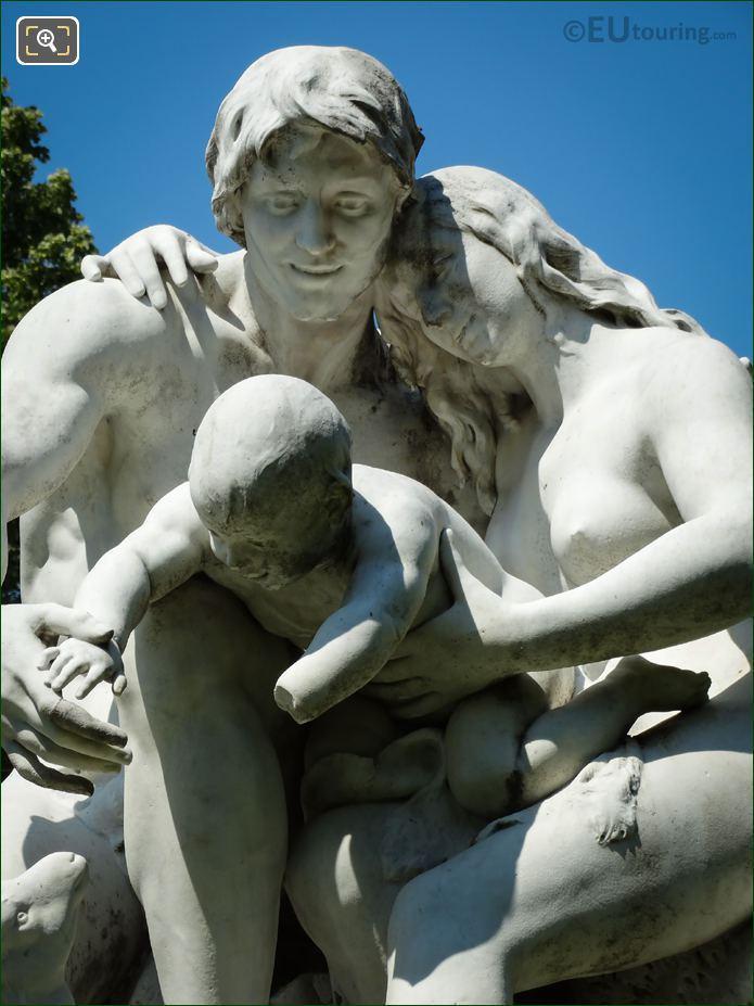 Back Of Joies De La Famille Statue