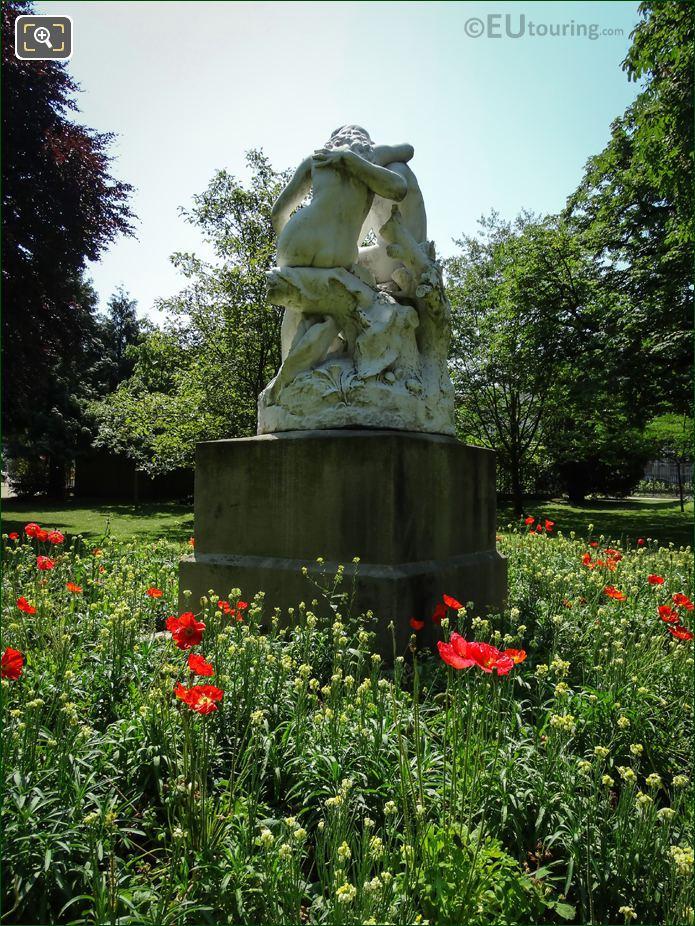 Horace Daillion Statue Group Joies De La Famille
