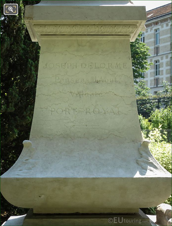 North Side Inscription On Charles Sainte-Beuve Monument
