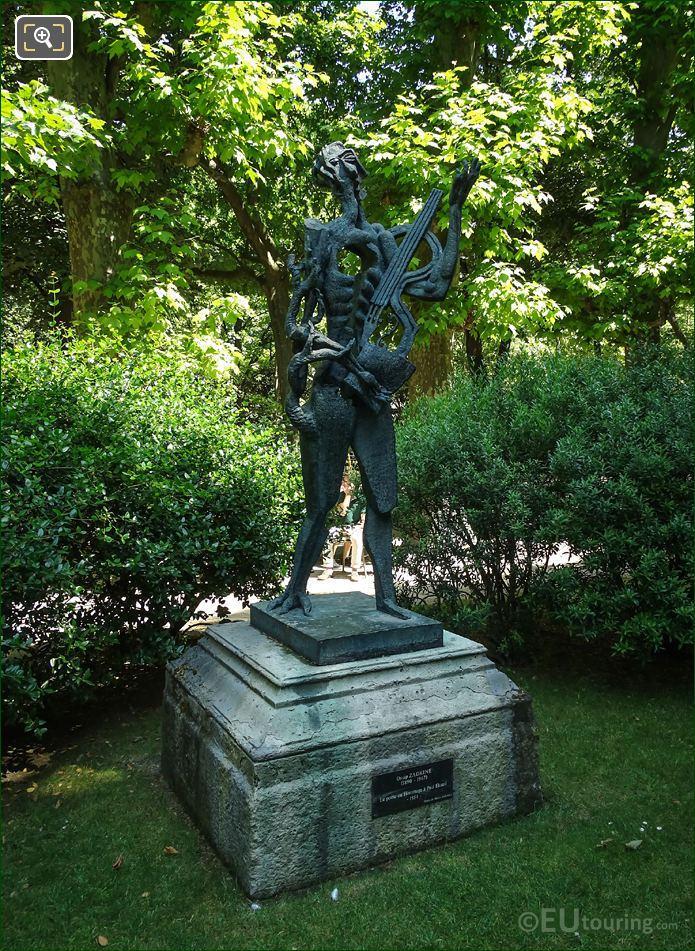 1954 Bronze Le Poete Statue By Ossip Zadkine