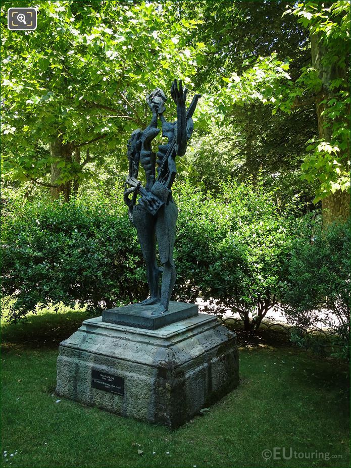 Paul Eluard Sculpture By Ossip Zadkine