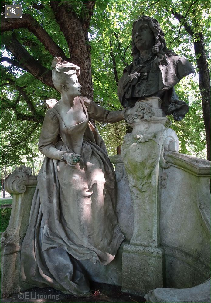 Statues On The Watteau Monument