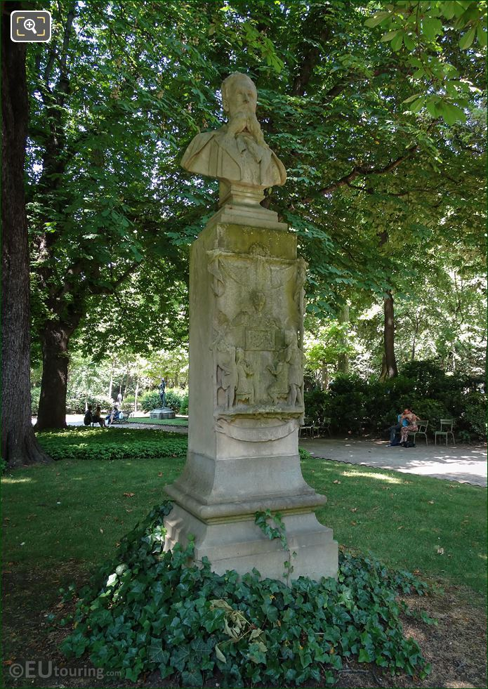 Louis Ratisbonne Monument In Luxembourg Grdns