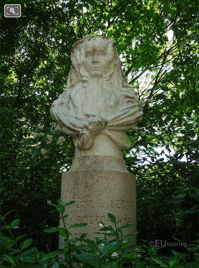 Marble Bust Of La Comtesse De Segur