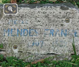 Information Plaque For Pierre Mendes France Statue