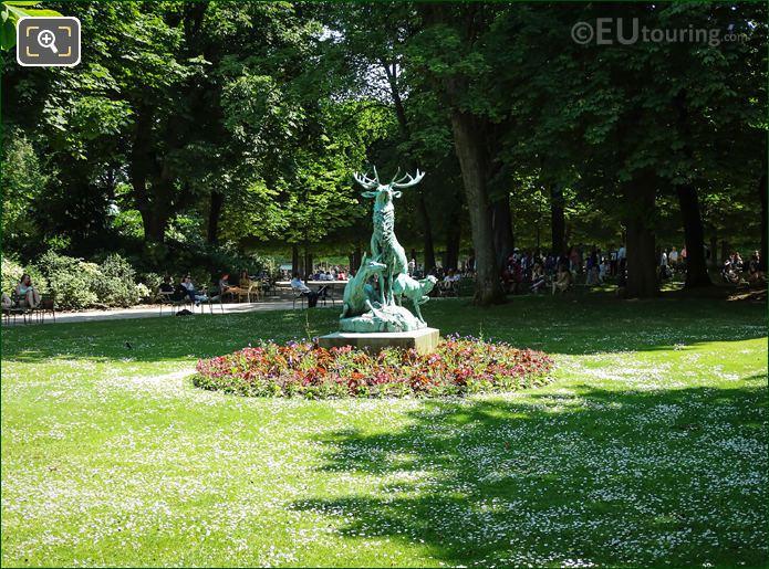 Luxembourg Gardens Harde De Cerfs StatueX