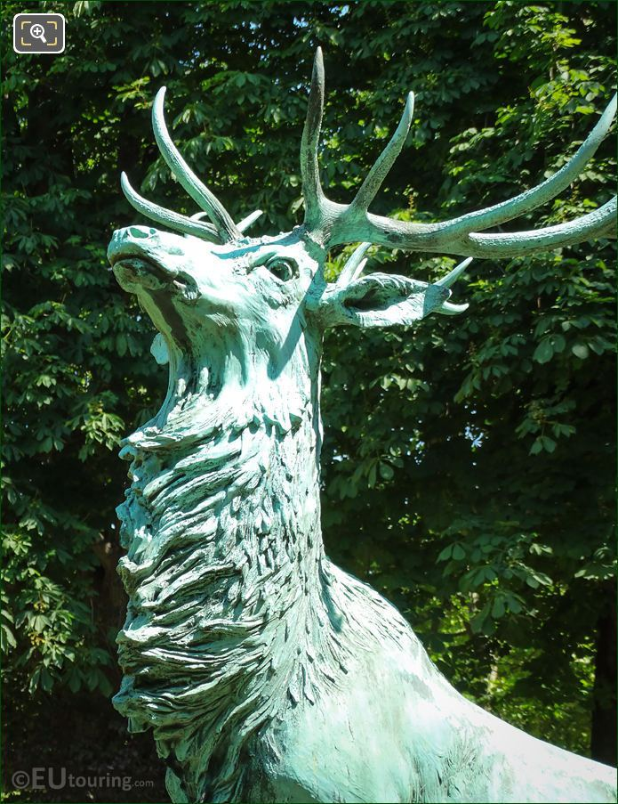 Stag On The Harde De Cerfs Statue