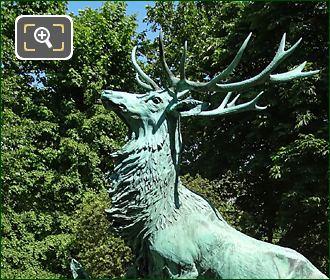 Bronze Statue Harde De Cerfs Luxembourg Gardens