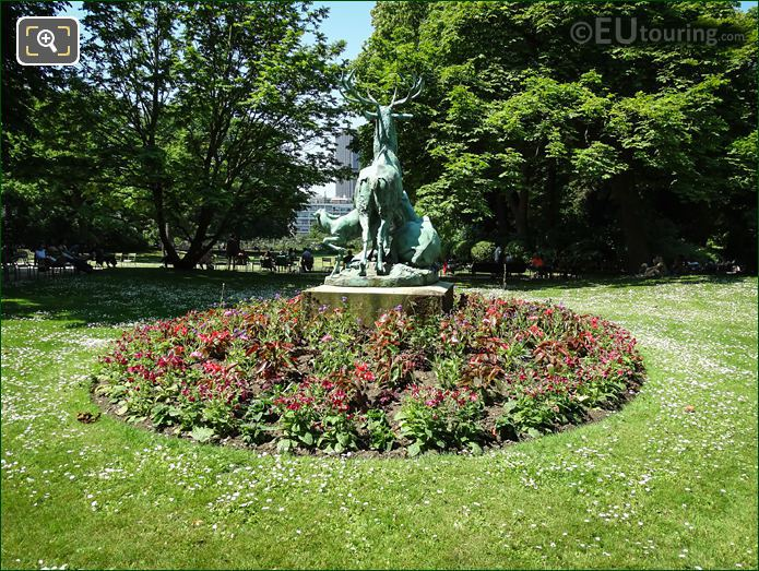 Luxembourg Gardens Bronze Deer Statue