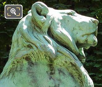 Bronze Lion Statue In Luxembourg Gardens