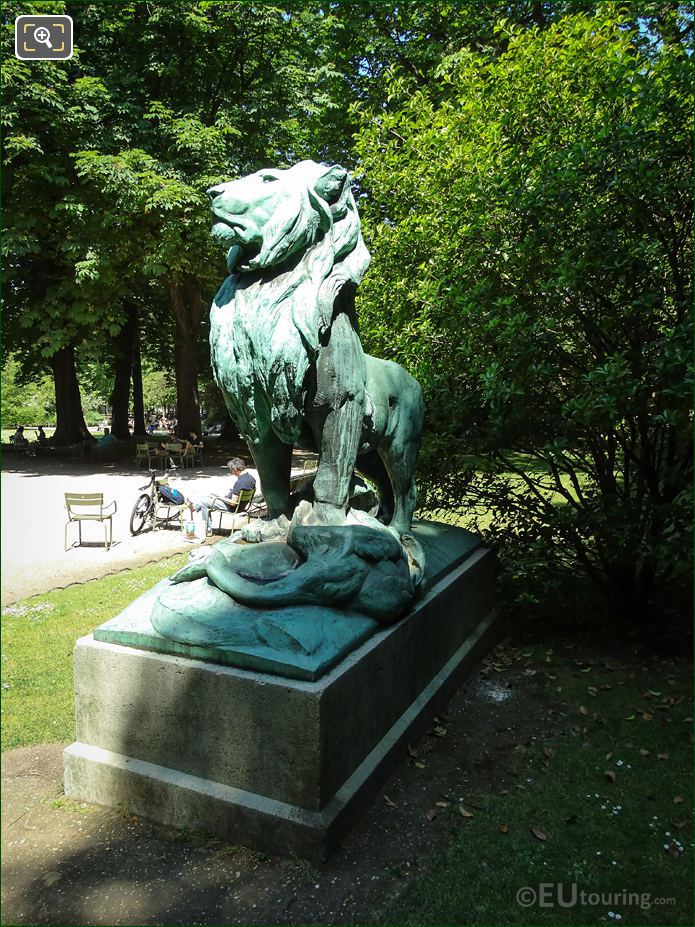Nubia Lion Statue In Luxembourg Gardens
