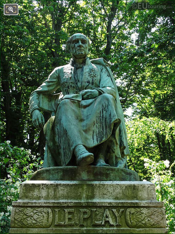 Frederic Le Play Statue By Andre Joseph Allar