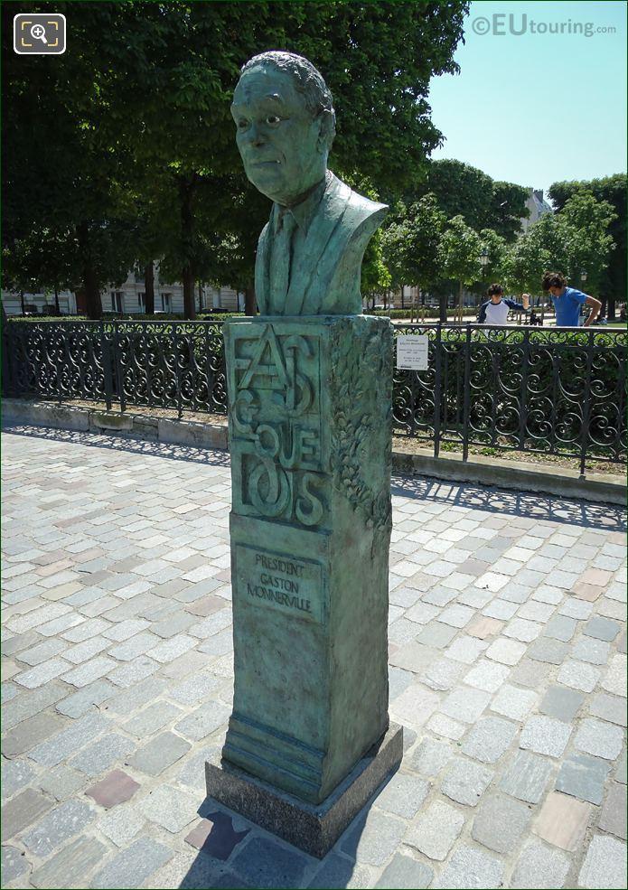2011 Monument Of Gaston Monnerville In Paris