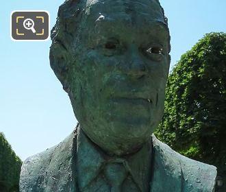 Bronze Bust Of Gaston Monnerville In Paris