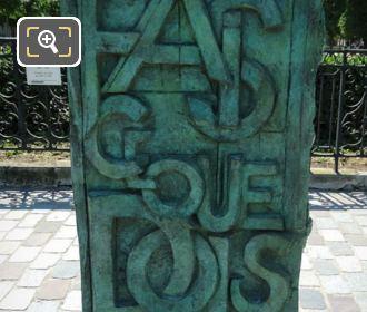 Front Inscription On Gaston Monnerville Monument
