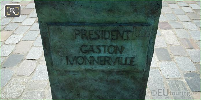 President Gaston Monnerville Inscription On Pedestal