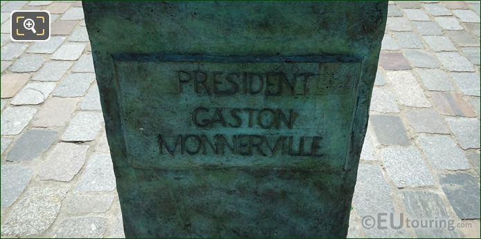 President Gaston Monnerville Inscription On Pedestal