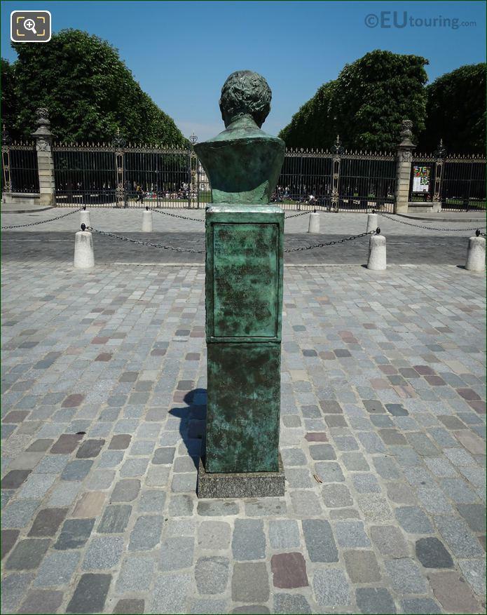 Back Of Jacques Canonici Sculptor Gaston Monnerville
