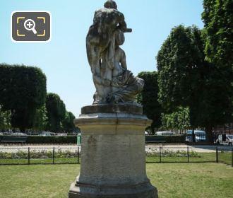 Back Of Le Crepuscule Statue