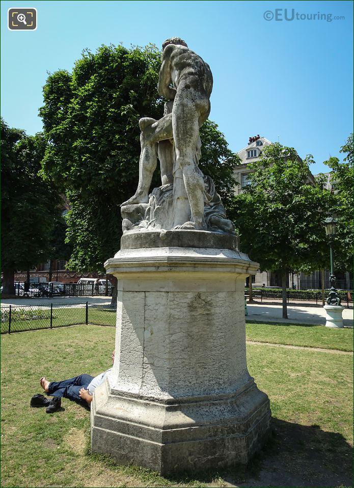 Le Crepuscule Statue On Pedestal