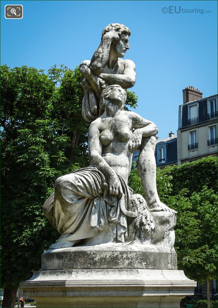Le Crepuscule Statue By Gustave Crauk