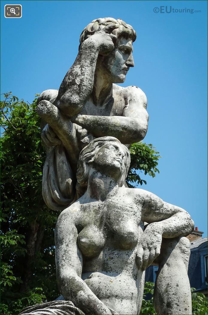Sculpted Man And Women Le Crepuscule Statue