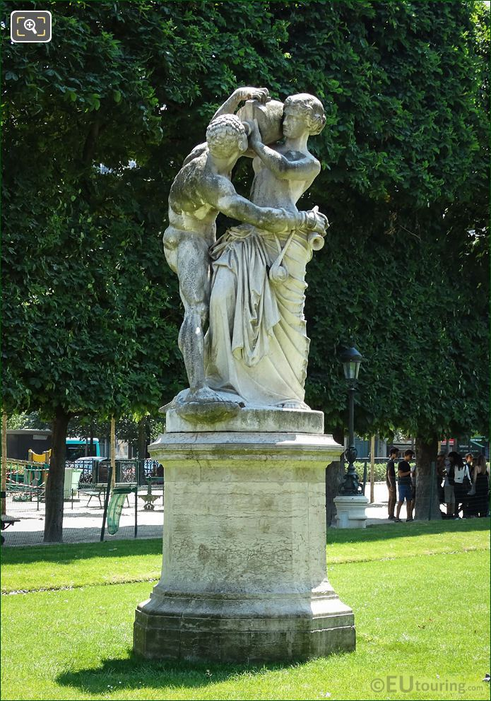 Le Jour Statue On Pedestal