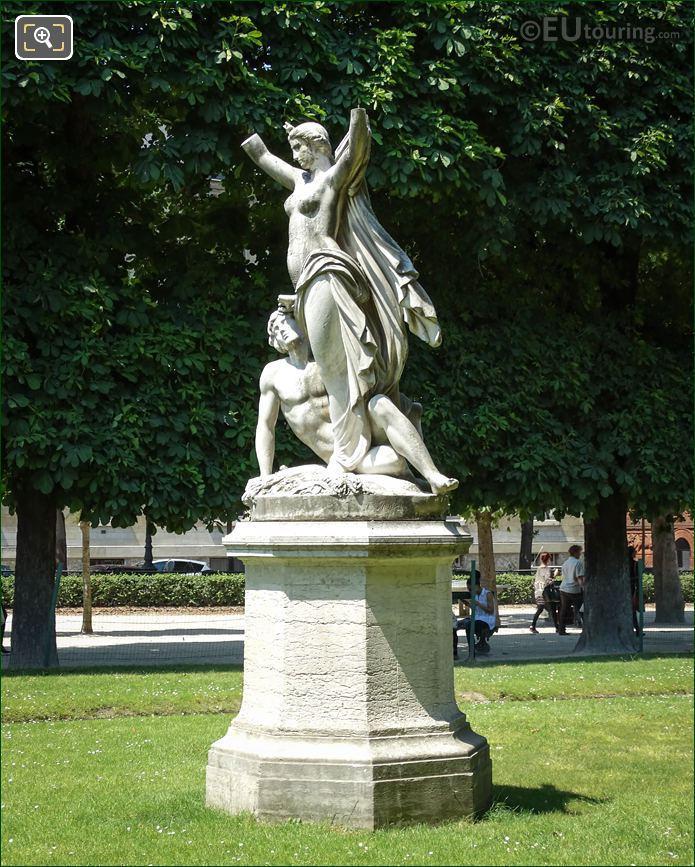 Allegory Statue l'Aurore 6th Arrondissement
