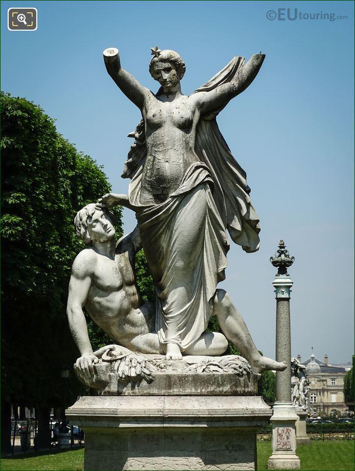 Statue l'Aurore In Jardin Marco Polo