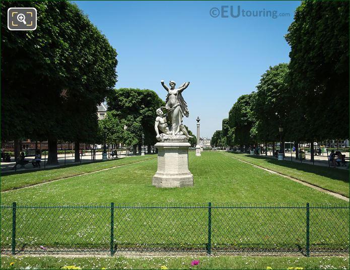 Jardin Marco Polo With l'Aurore Statue