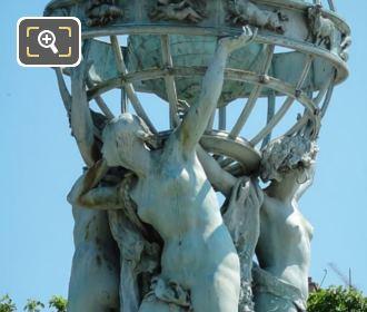 Celestial Globe By Sculptor Eugene Legrain