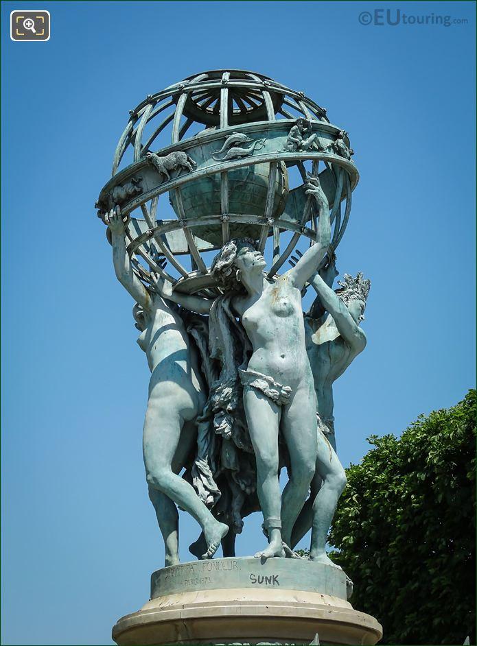 Celestial Globe On Fontaine De l'Observatoire