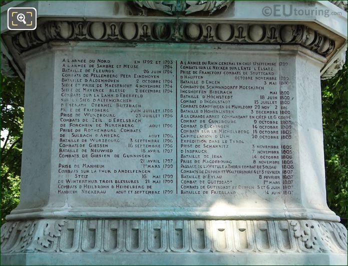 Marechal Ney Battle List 1792 To 1807
