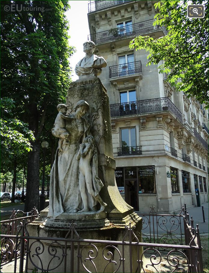 Theophile Roussel Statue By Jean Baptiste Champeil