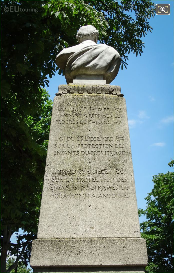 Inscription On The Back Of Theophile Roussel Monument