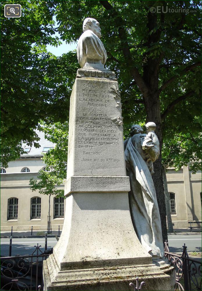 Eastside Inscription On Theophile Roussel Monument
